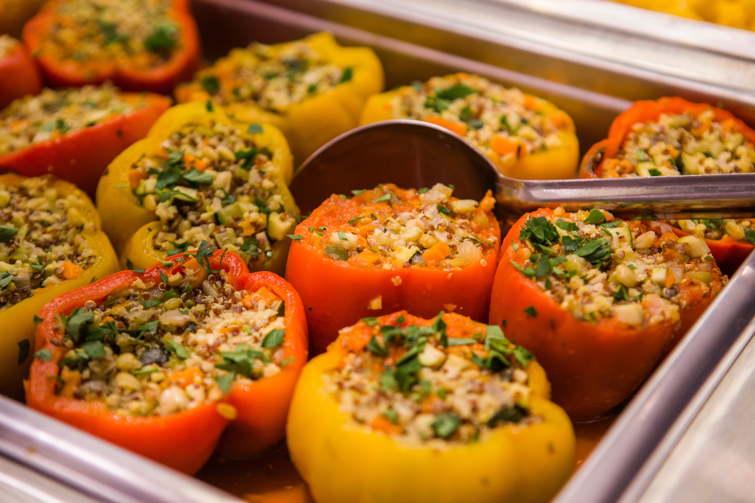 Stuffed Peppers from the hot bar at Beatrix Market