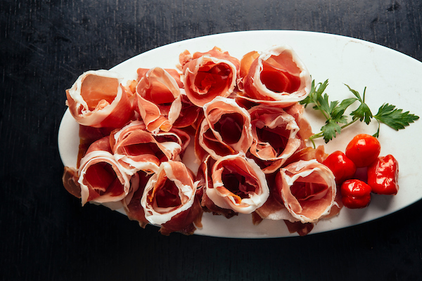 Rolled up prosciutto