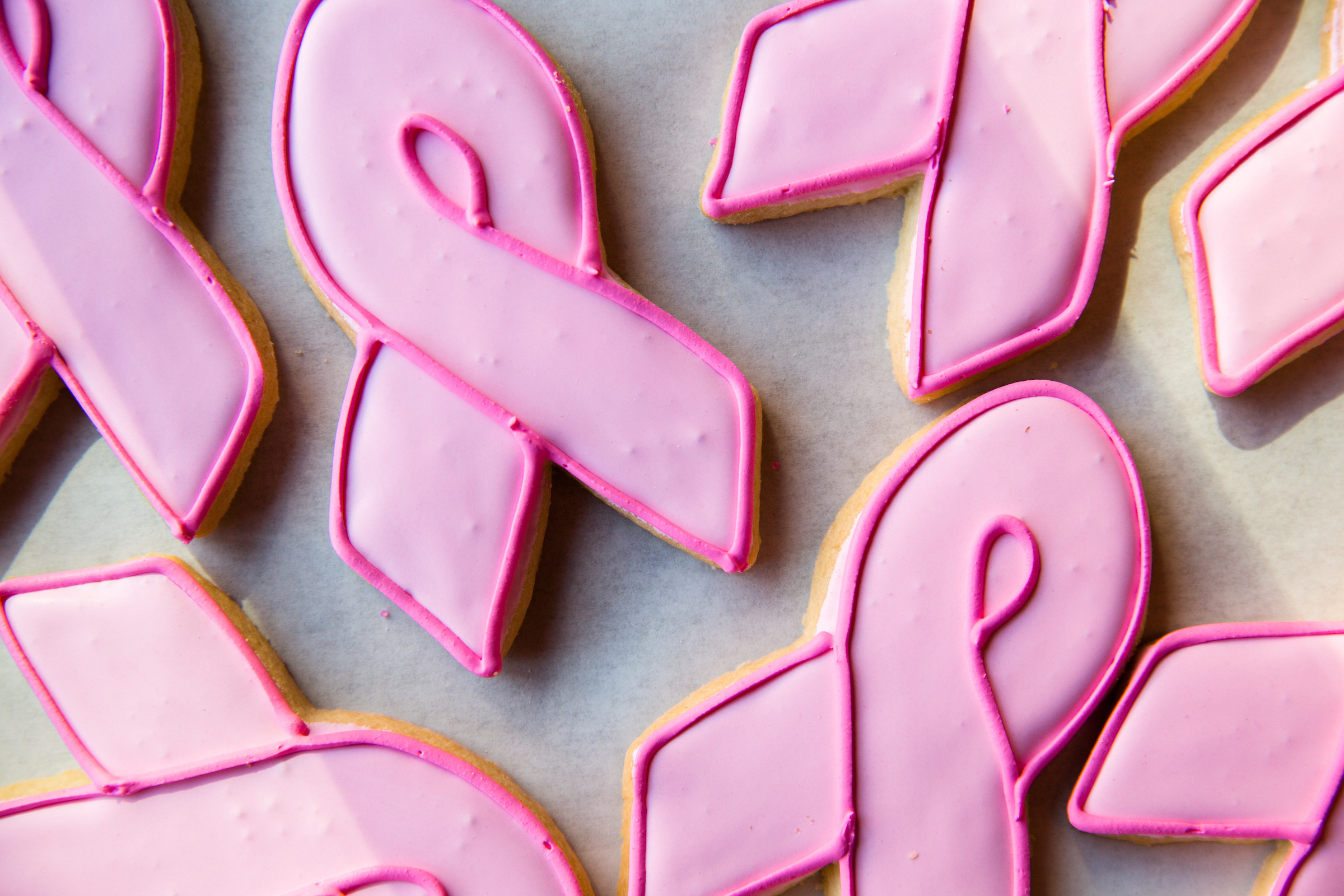 Breast Cancer Awareness ribbon cookies