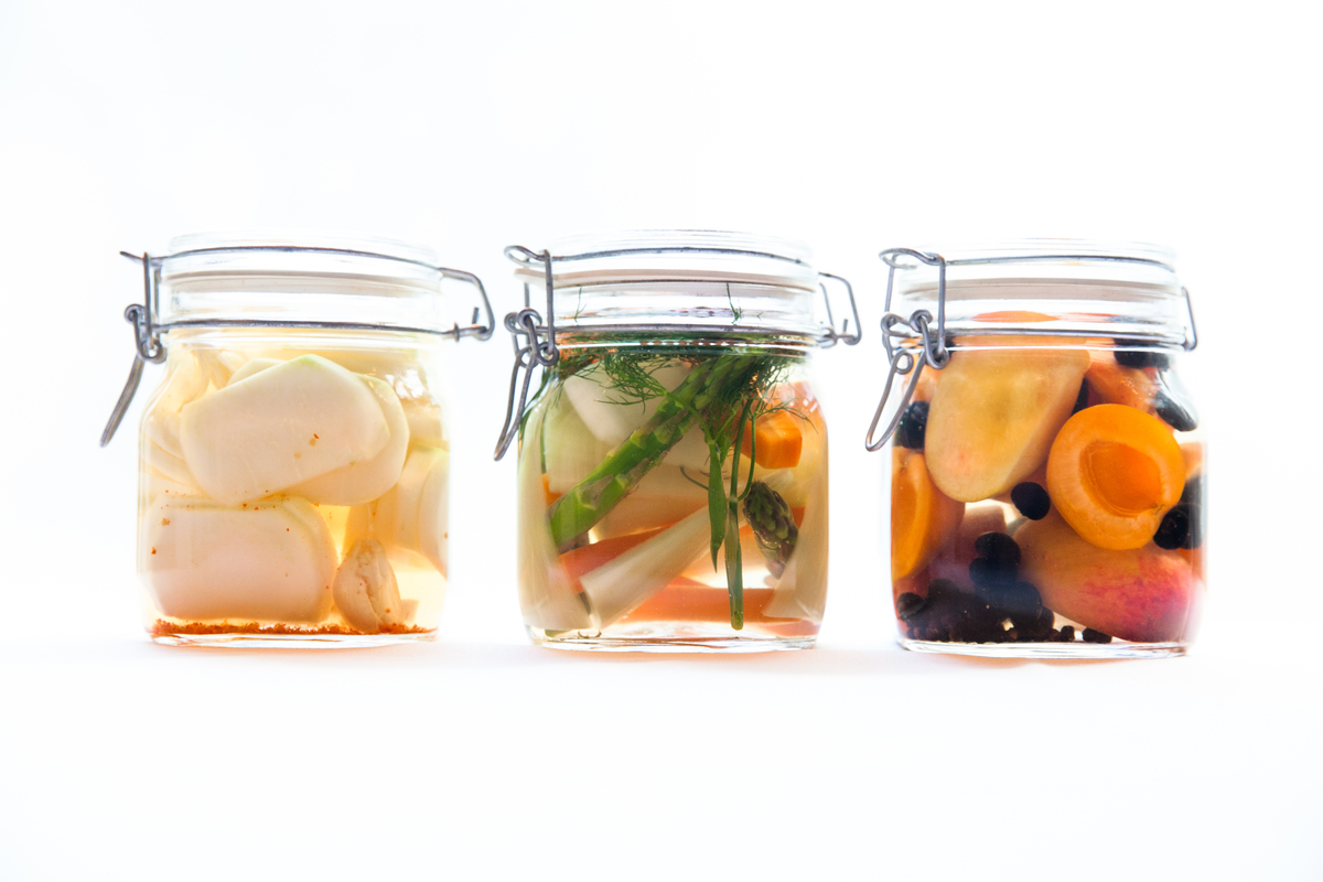 pickled summer veggies and fruits
