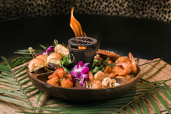 Pu-Pu Platter at Three Dots and a Dash