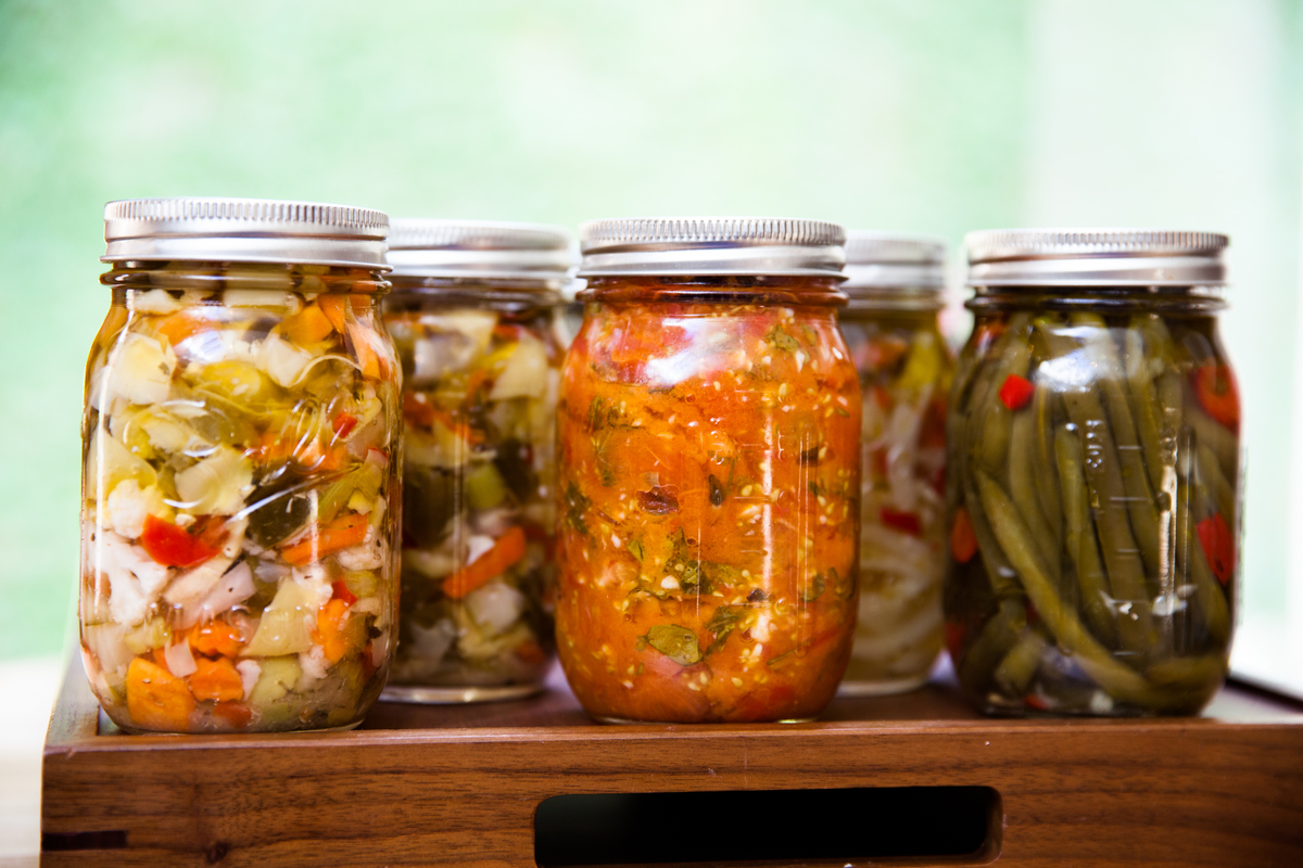 assortment of things being pickled