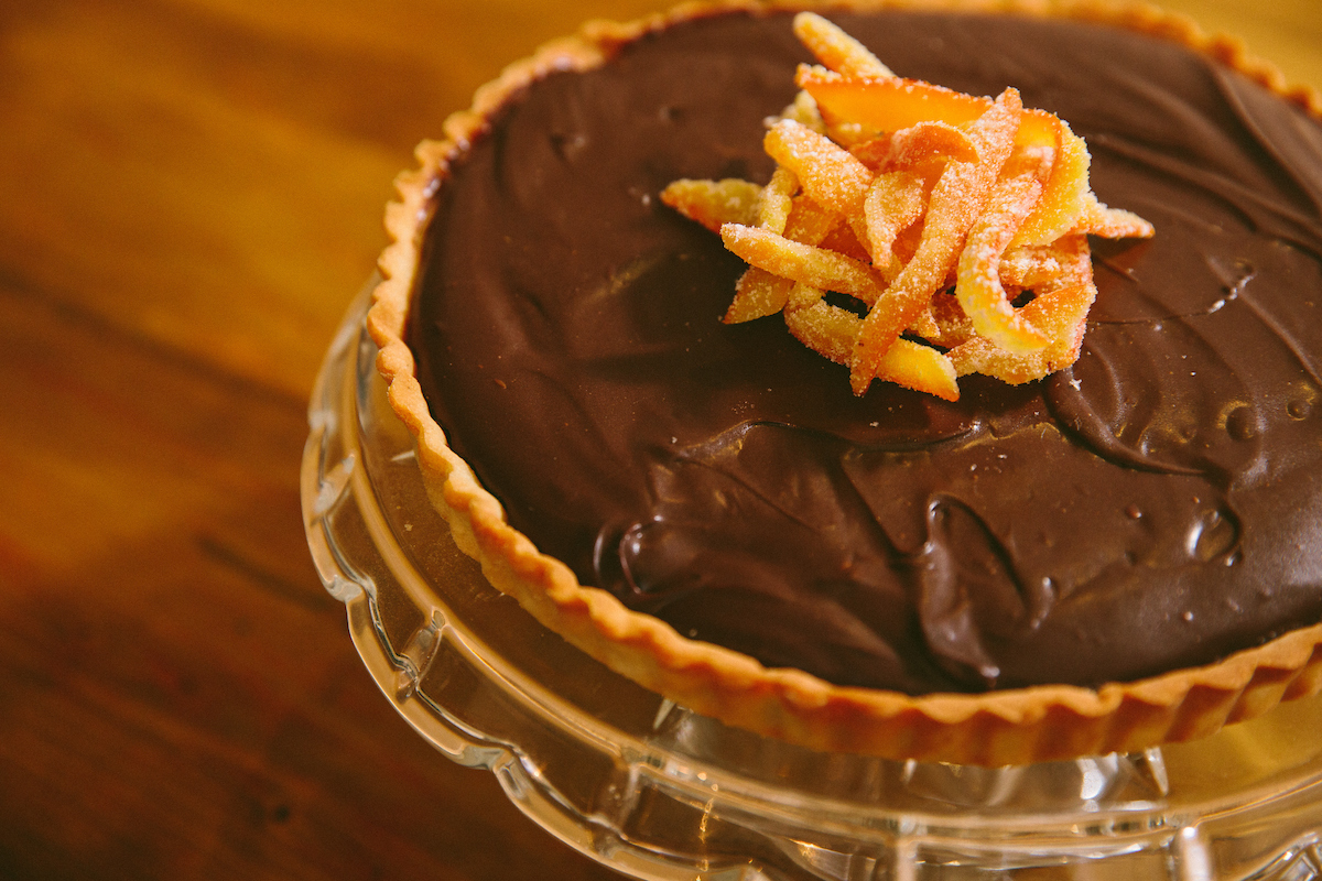 Chocolate tart with orange
