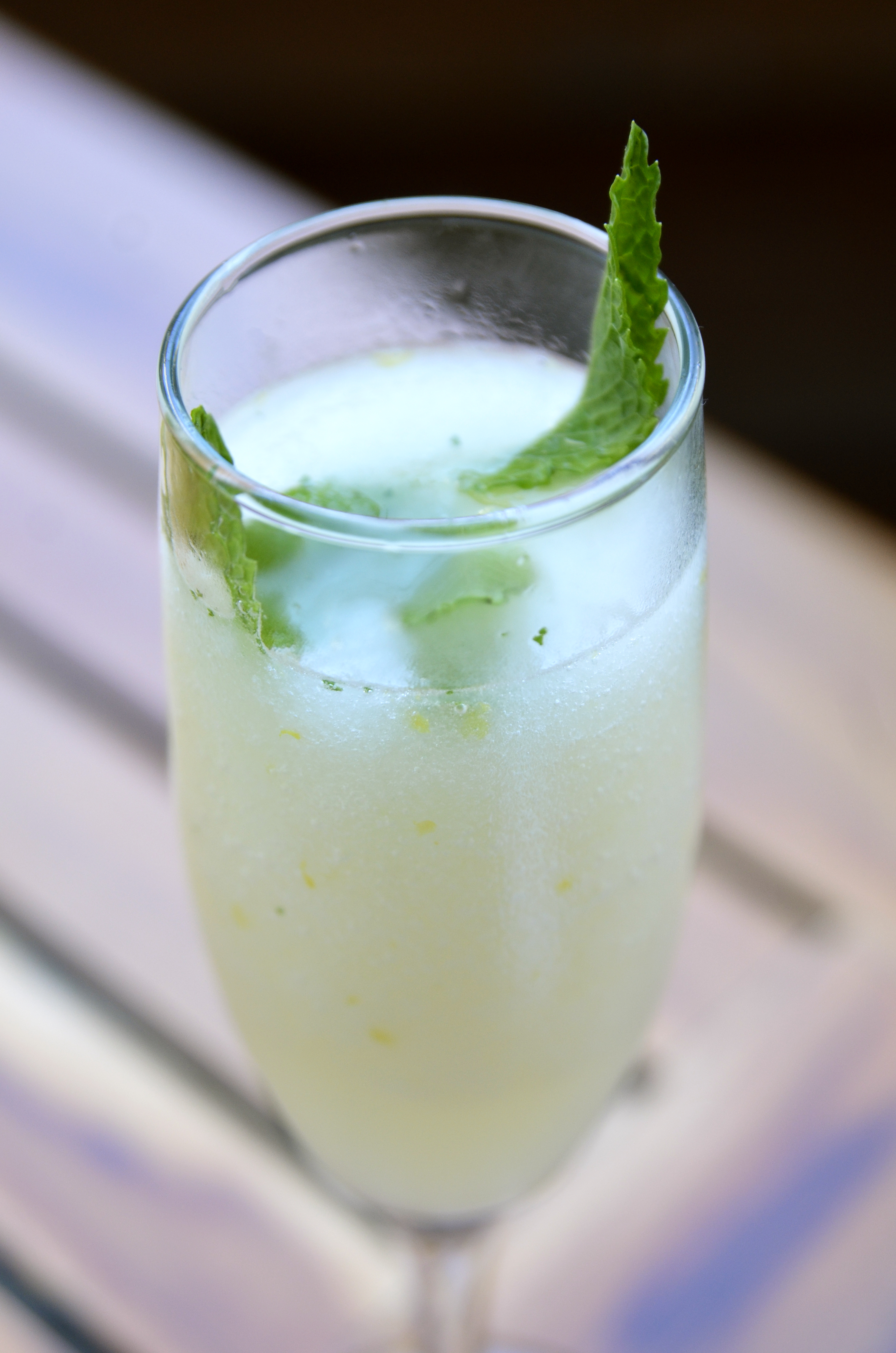 Cocktail with mint in the glass