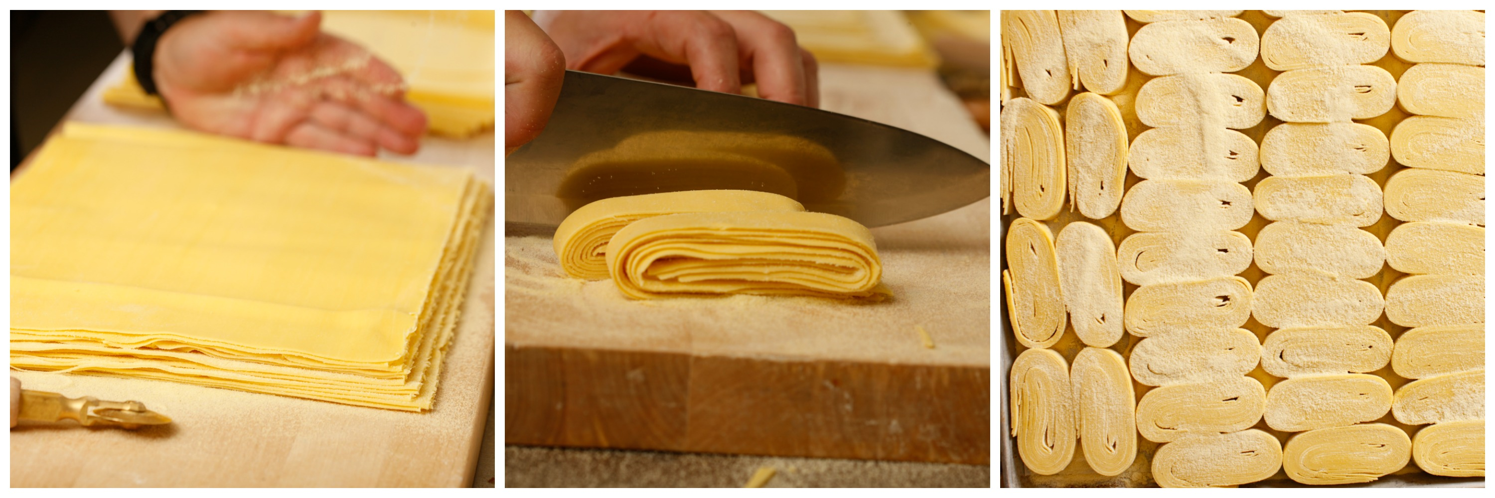 Handcutting pasta noodles at RPM Italian