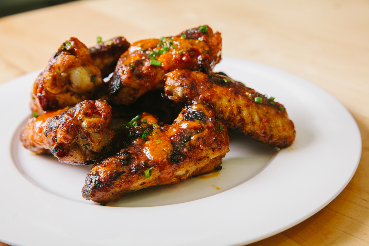 Calabrian Chili and Roast Garlic Chicken Wings from stella barra