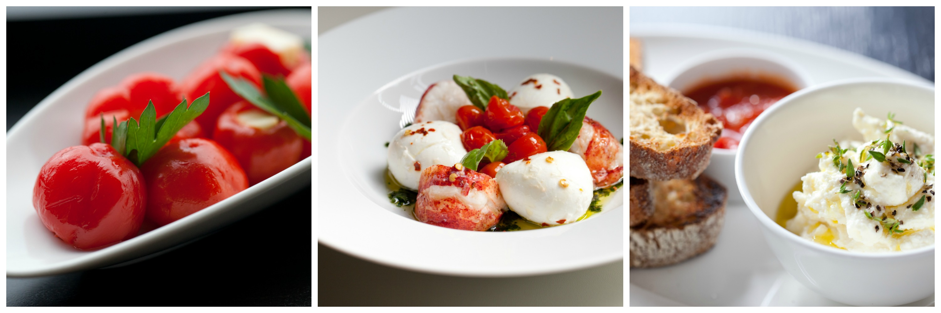 Peppers, Lobster Caprese salad and ricotta cheese from RPM Italian