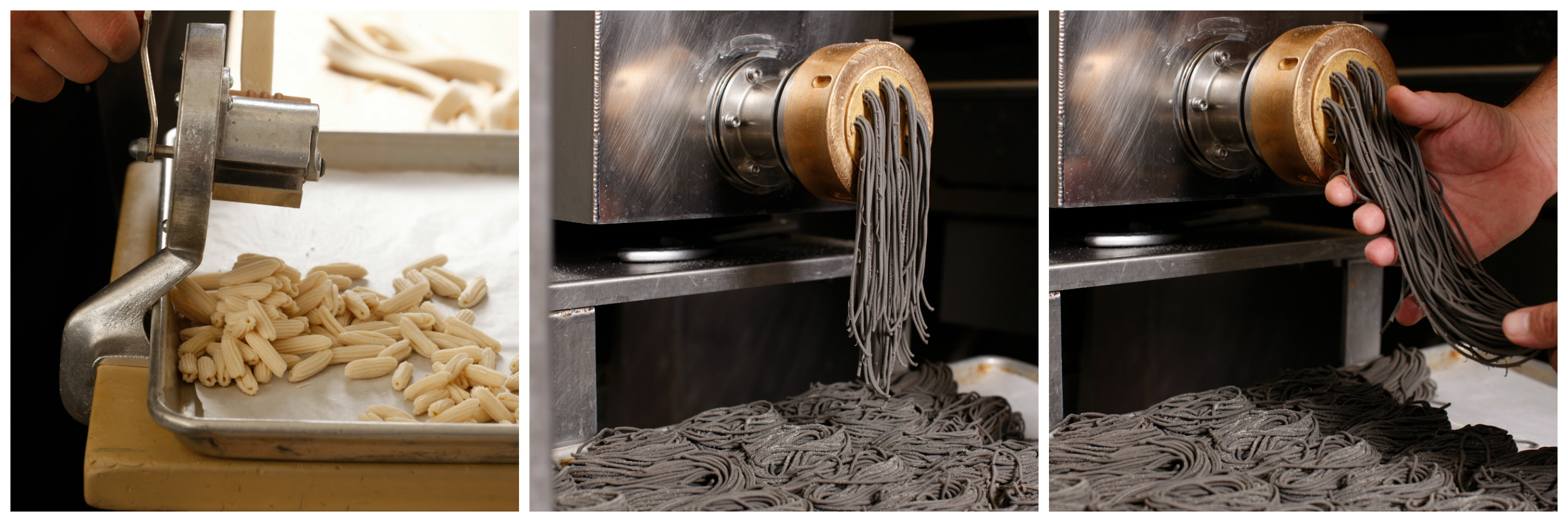 Pasta making process