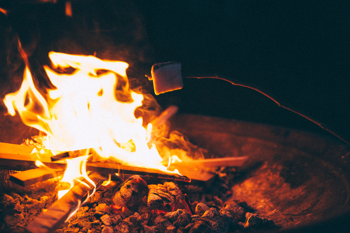 marshmallow over a fire