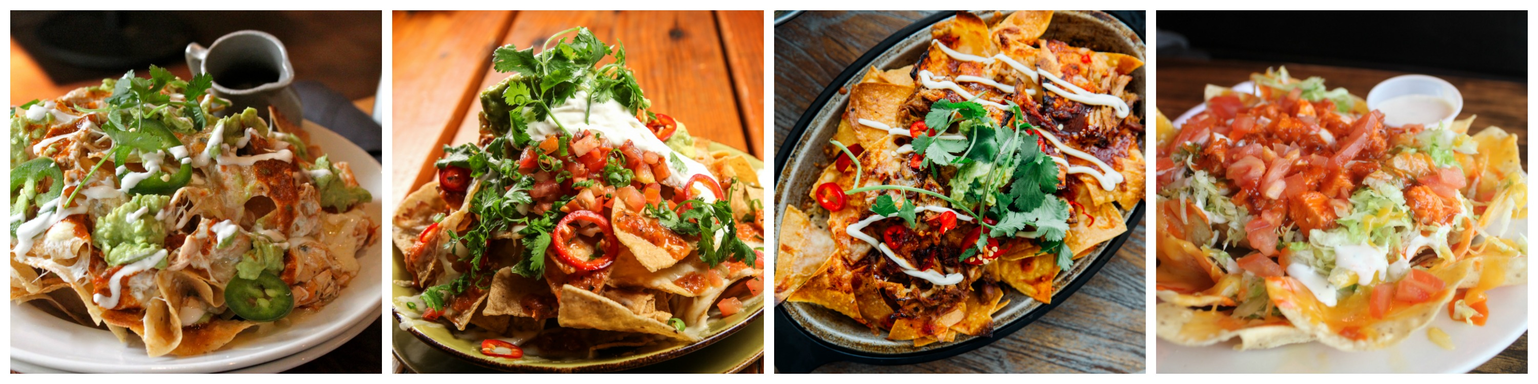 4 images of nachos