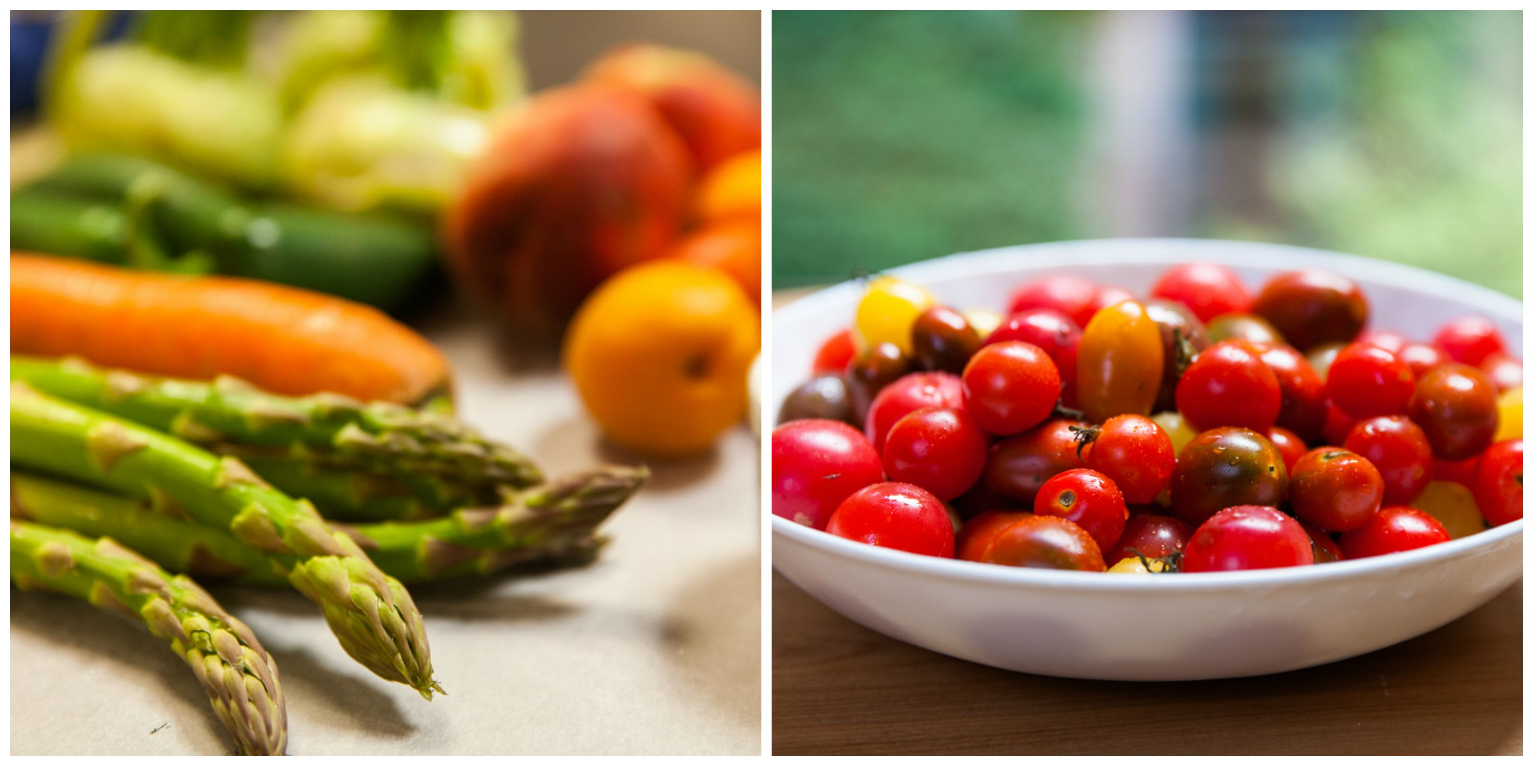 asparagus and cherry tomatoes