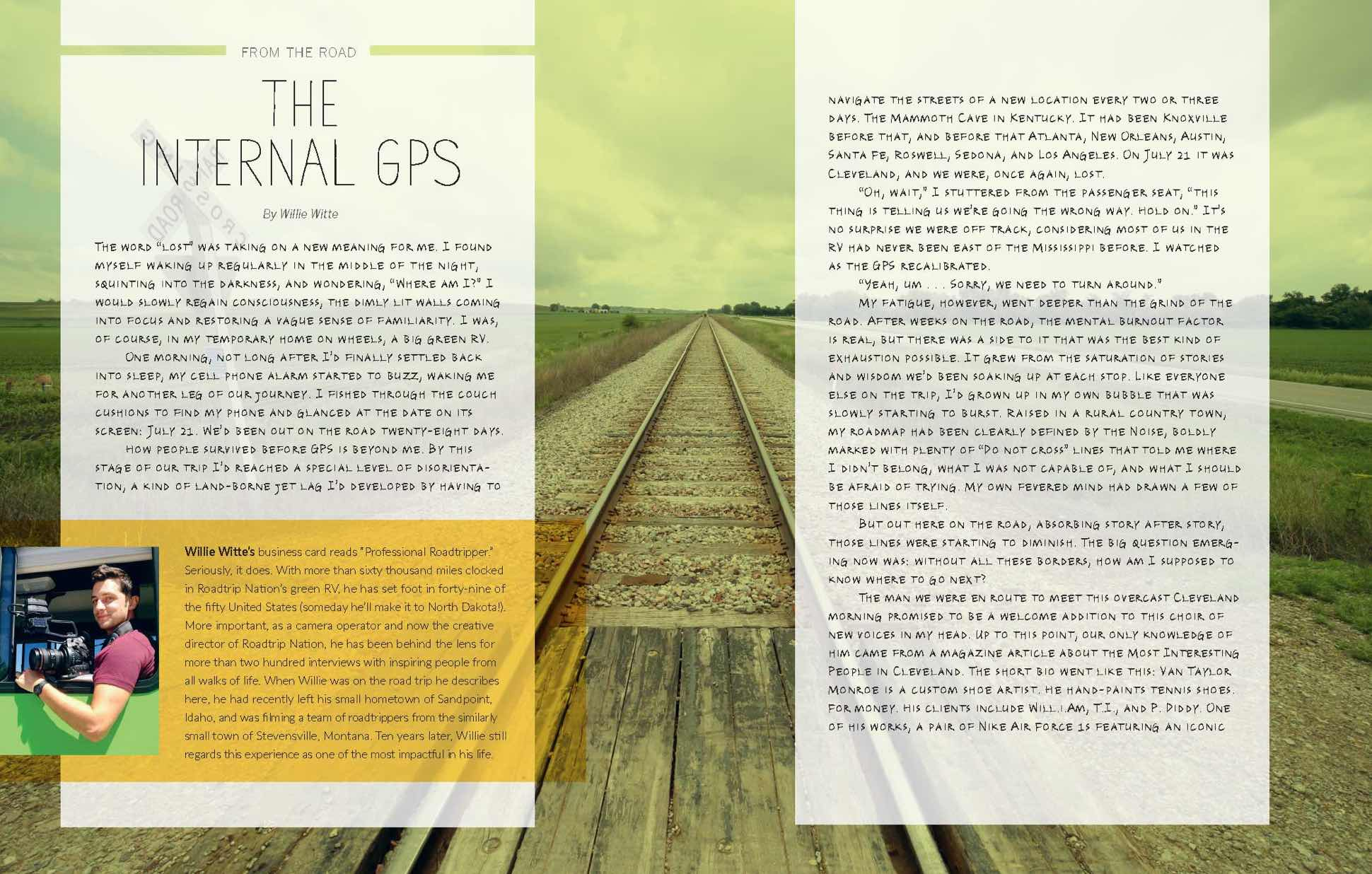 "Spread of an insert titled ""The Internal GPS"""