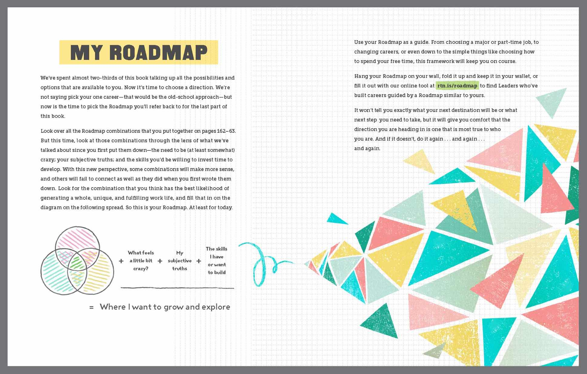"Illustration of an exercise titled ""My Roadmap"""