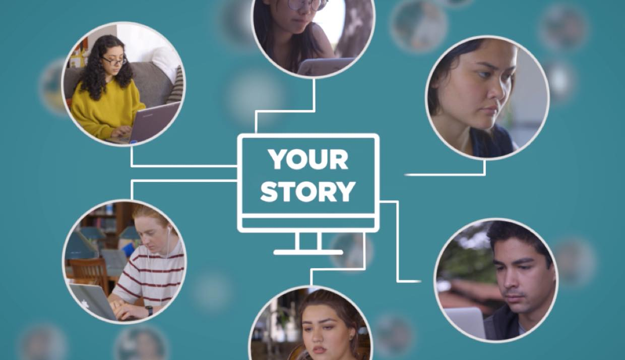 A visualization of how your career story can reach many young people who need to hear your advice