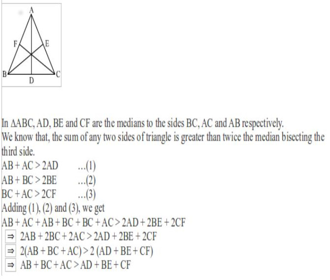 Prove That Sum Of The Three Altitudes A Triangle Is Less Than Its Sides