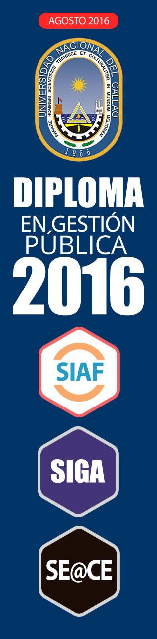 Diploma SIAF, SIGA Y SEACE 2016