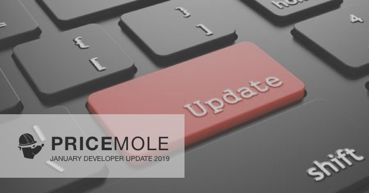 Pricemole dev update 2019