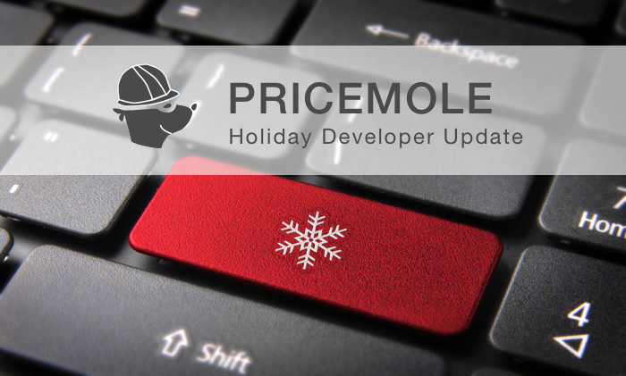 Pricemole holiday dev update
