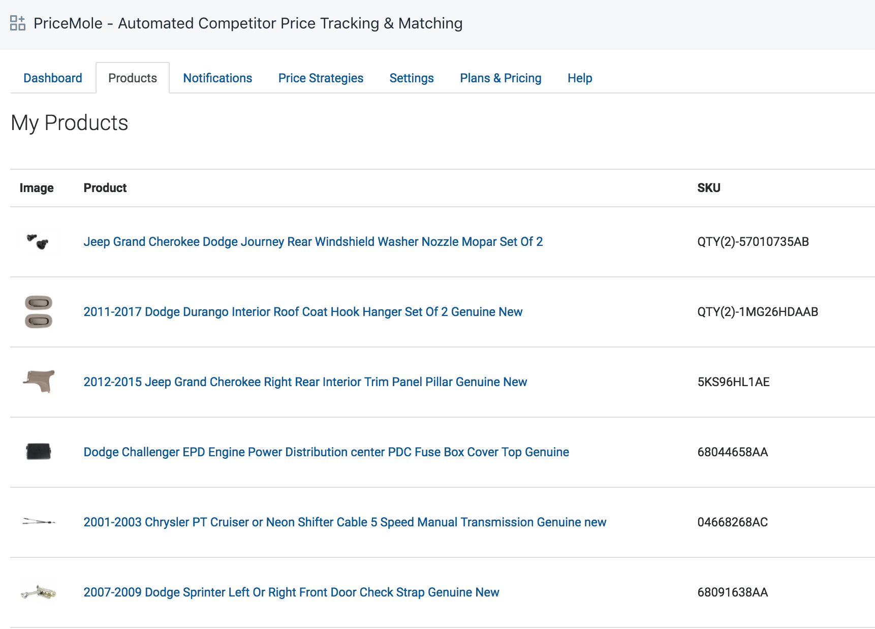 Developer Update March 2018 Competitor Price Monitoring Tracking 2012 Sprinter Fuse Box Product Skus And Search