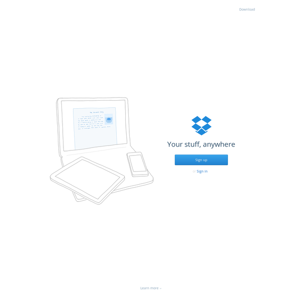 Dropbox is a free service that lets you bring your photos, docs, and videos anywhere and share them easily. Never email yourself a file again!
