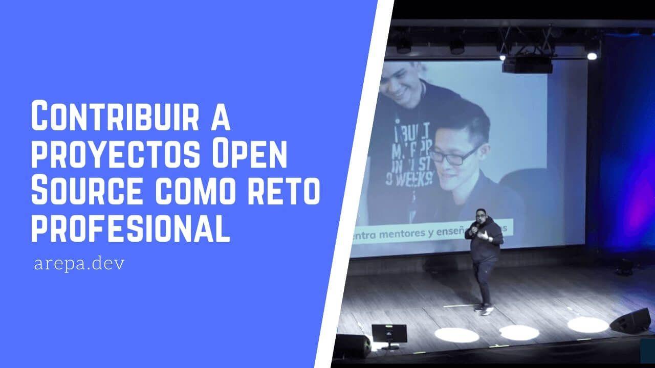 Contribuir a proyectos Open Source como reto profesional