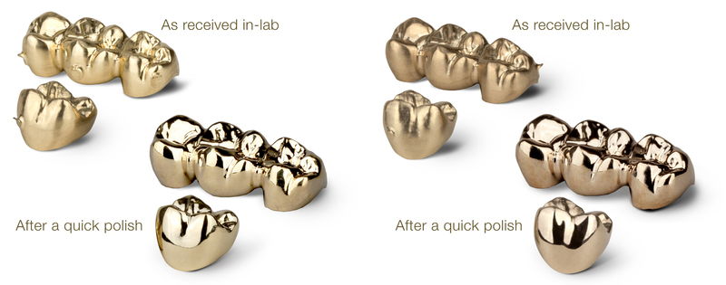 ArgenMill Milled Gold Crowns
