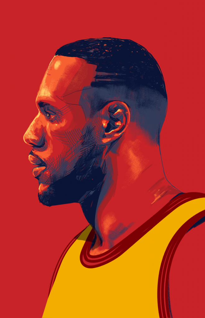 ESPN: NBA Finals illustration