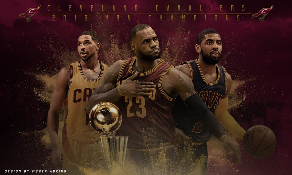 Cleveland Cavaliers - NBA Champs by Fisher Adkins