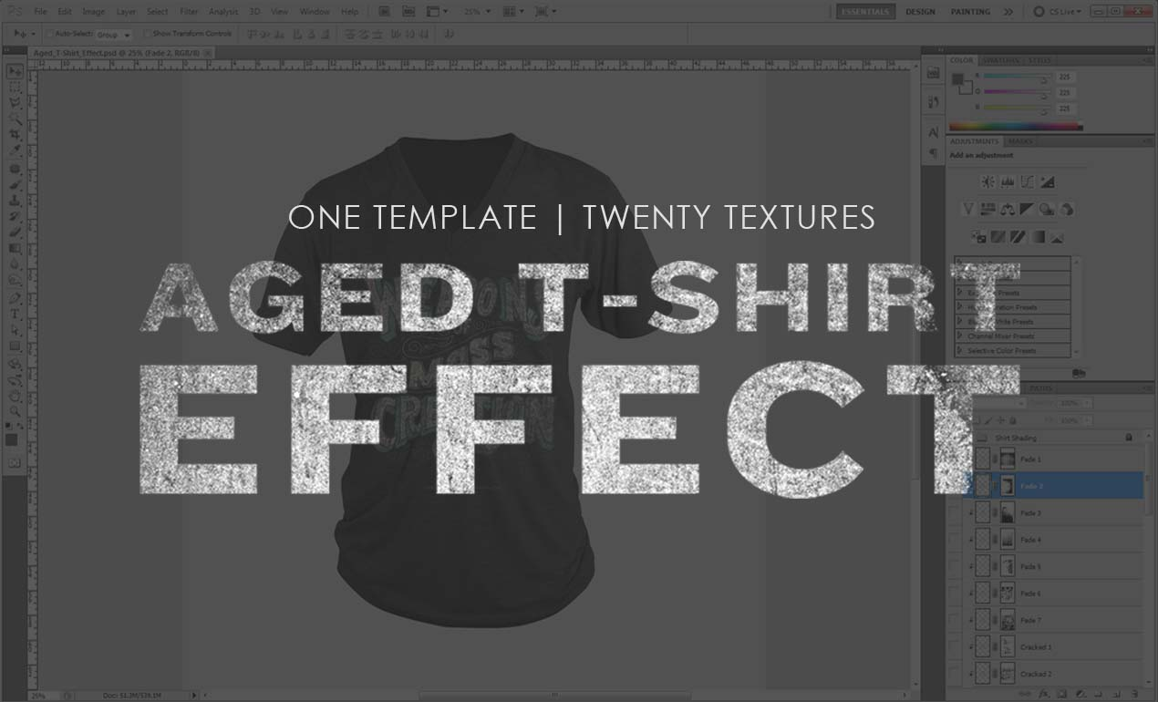 Aged T Shirt Effect Go Media S Arsenal