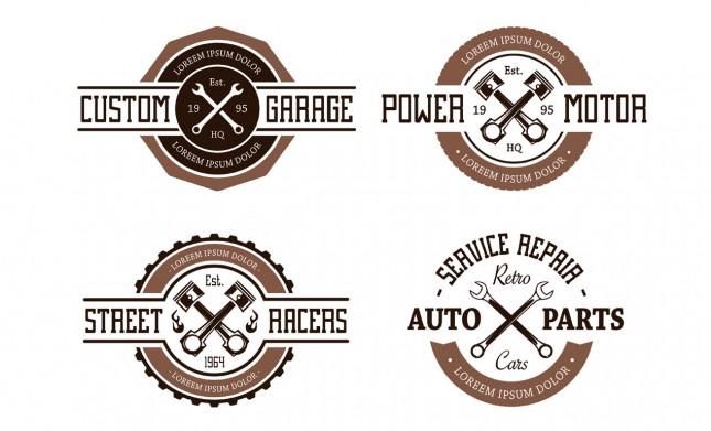 Retro Vector Auto Emblems
