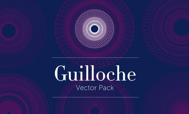 guilloche vector pack