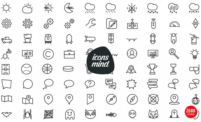 Vector Icons Mega Pack: 2,080 Icons in 53 Categories