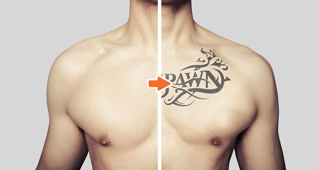 Tattoo Mockup Photoshop Templates Pack By Go Media