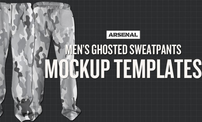Men's Ghosted Sweatpant Mockup Templates