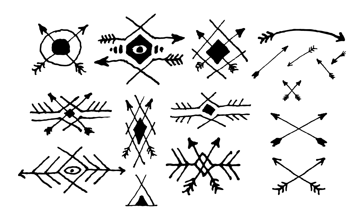 Ancient Arrow Drawing Arrow Vectors