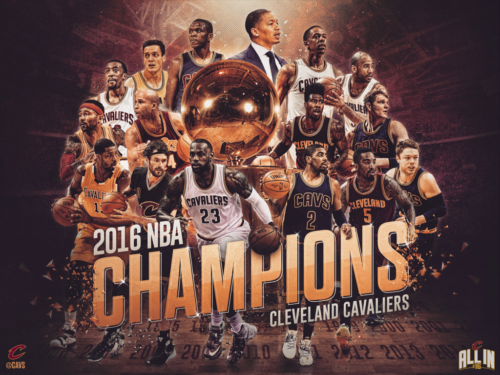 2016 NBA Champions - Cleveland Cavaliers by Joe Caione