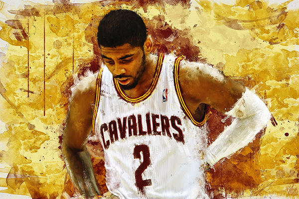 Painting • Kyrie Irving • by Mattia Iurlano