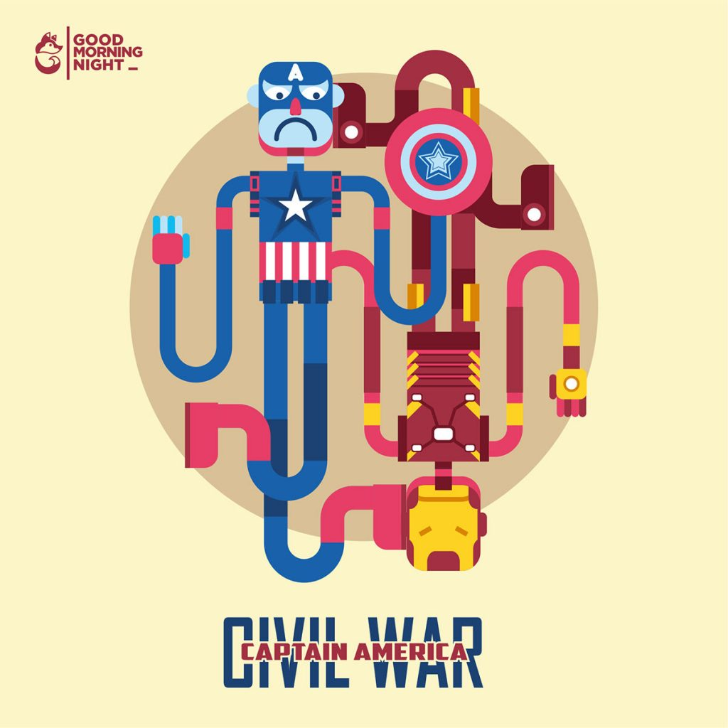 Captain America Civil War by Febrian Anugrah