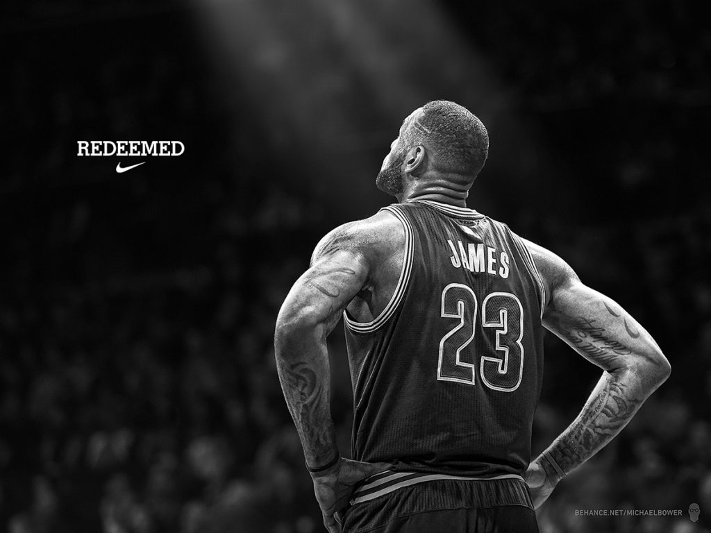 LeBron James – Redeemed Nike Poster by Michael Bower