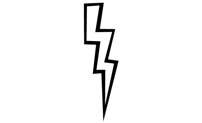 how to make a lightning bolt in illustrator