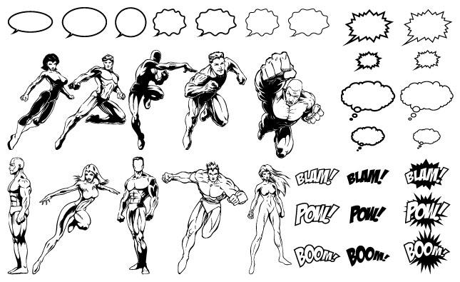 Comic Book Vector Elements