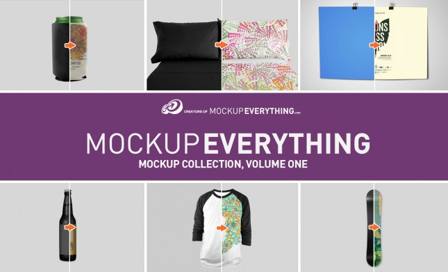 MockupEverything.com Apparel and Product Mockup PSD Collection, Volume 1