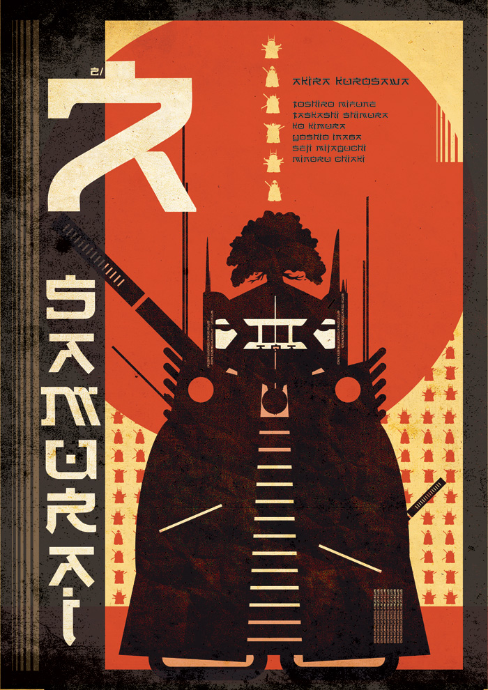 Seven Samurai No. 2 by Simon Hawes