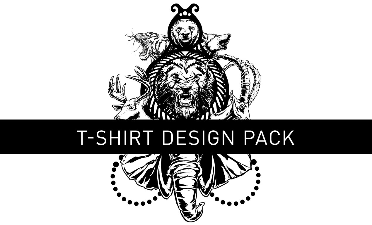 Unleashed vector t shirt design pack go media 39 s arsenal for Top 10 t shirt designs