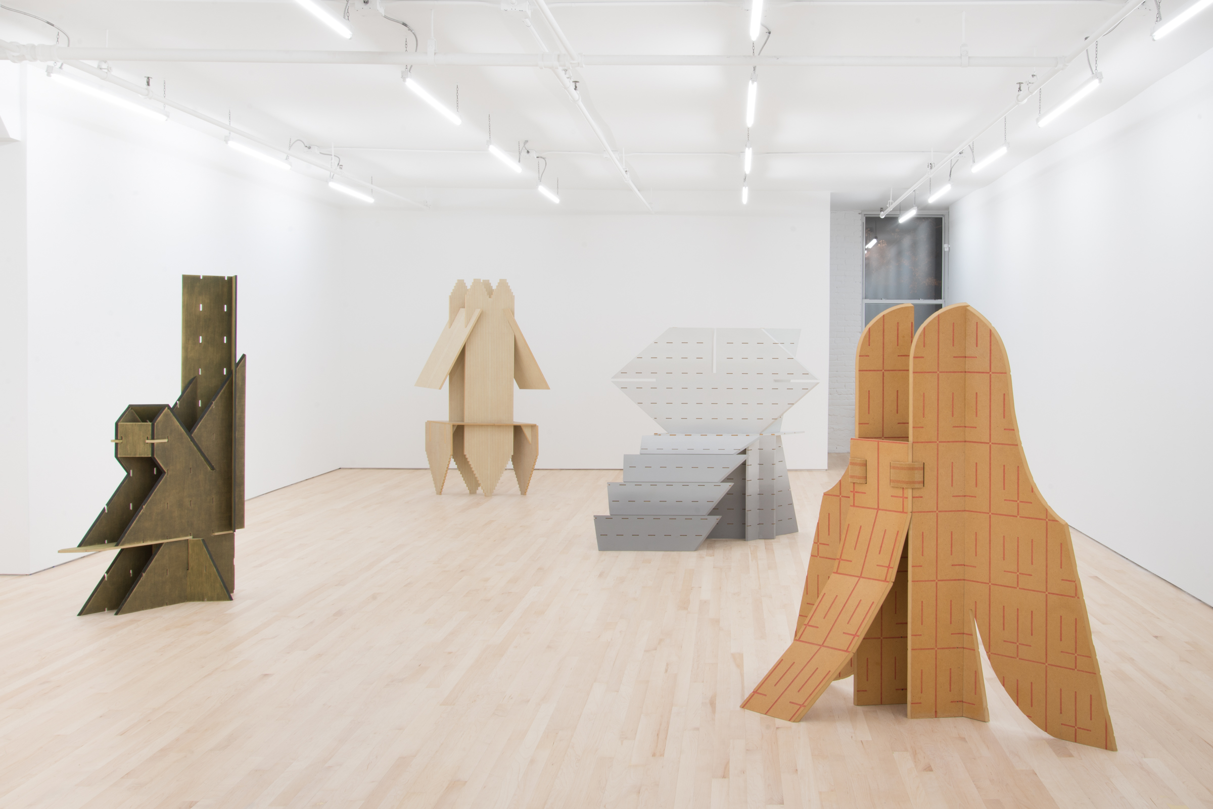 Installation view of Diane Simpson: