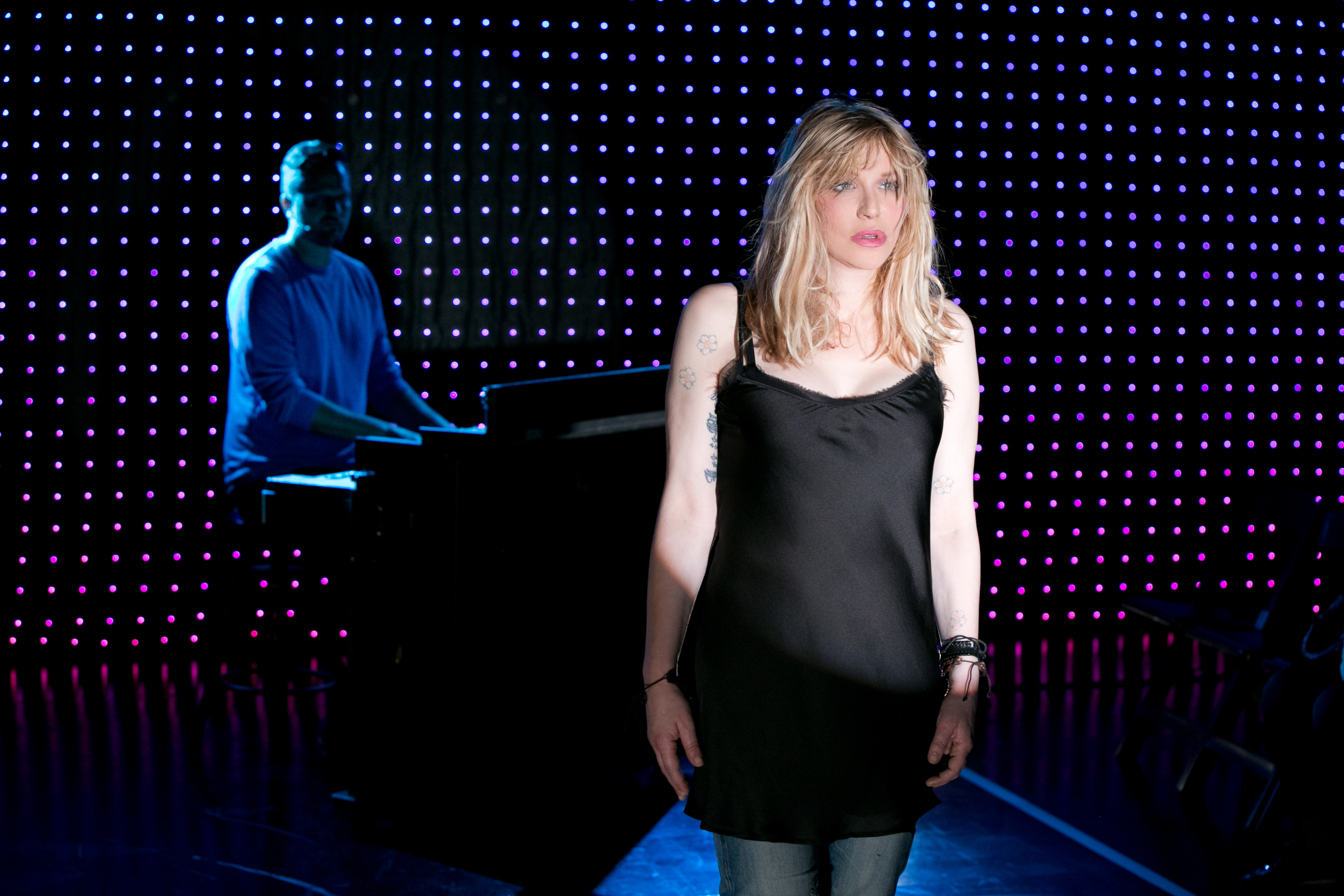 Todd Almond and Courtney Love in Kansas City Choir Boy.