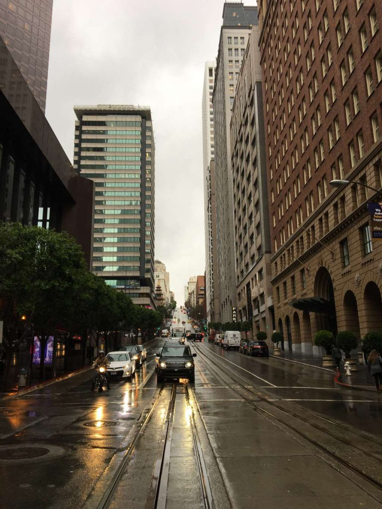 San Francisco rainy street photo