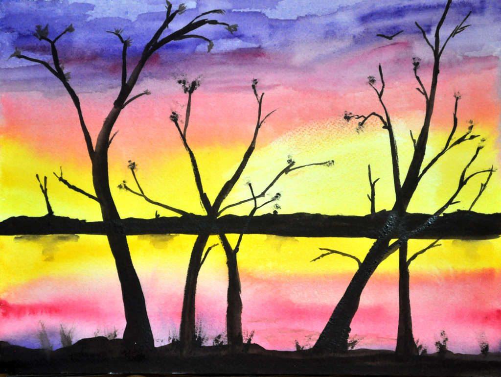 sunset painting, finished