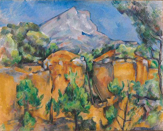 Paul C&eacute;zanne's <em>Mont Sainte-Victoire Seen from the Bib&eacute;mus Quarry</em>. c. 1897.