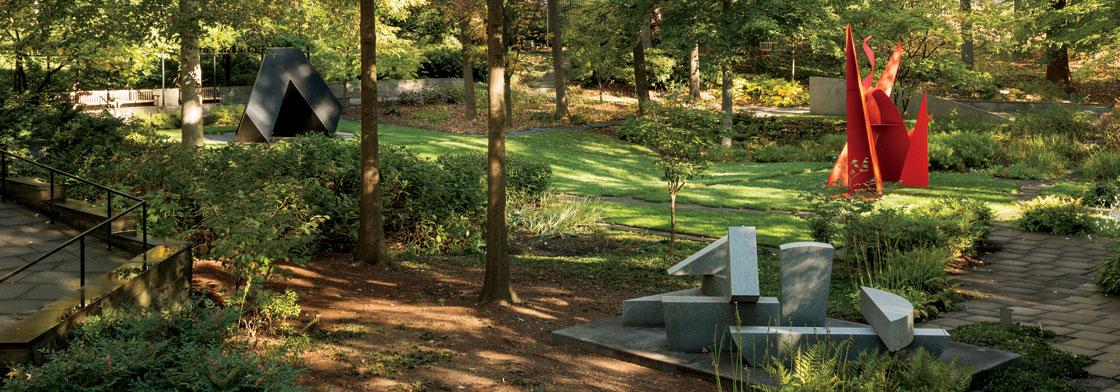 Spring in the Levi Sculpture Garden.